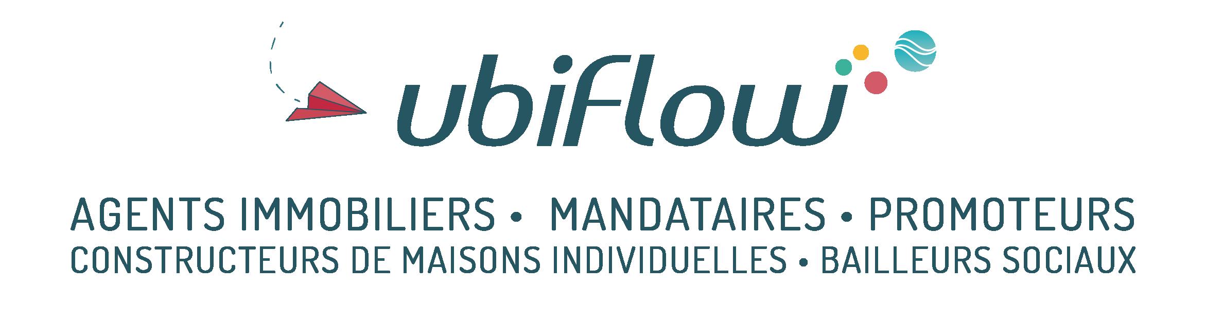 Logo Ubiflow - Agents Immobiliers - Mandataires - Promoteurs - CMI - Bailleurs sociaux
